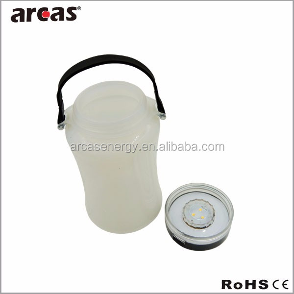 3SMD Solar rechargeable rubber LED Lantern with cable rechargeable