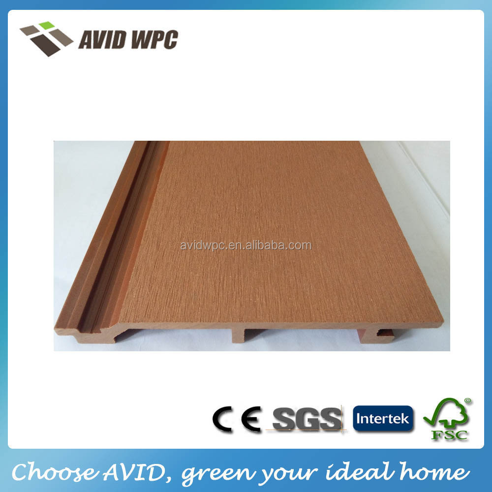 Popular cheap exterior wood plastic composite wall panel cladding for house and villas decoration