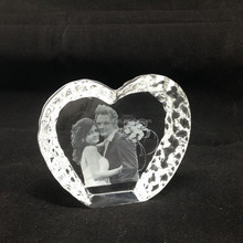 Cheap wedding 3d laser crystal gift