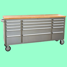 15 lockable drawers storage stainless steel 72 inch rolling workshop tools workbench