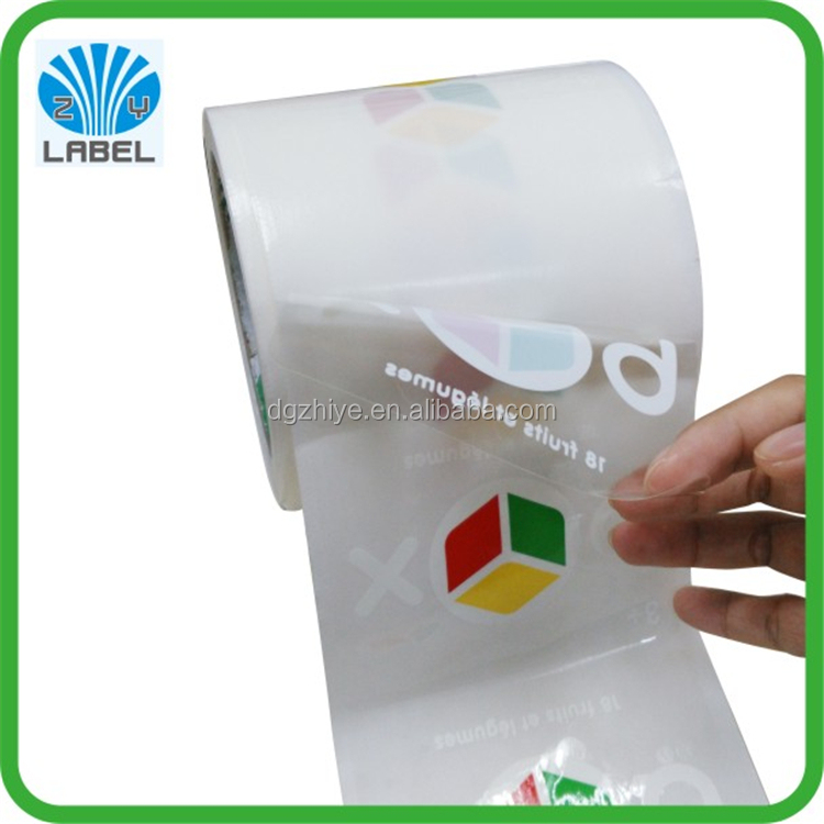 Waterproof clear removable vinyl transparent polyester label