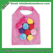 Nylon Rose Reusable Foldable Rose Flower Folding Shopping Bag