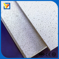 ceiling board with square edge mineral fiber wool ceiling board suspended
