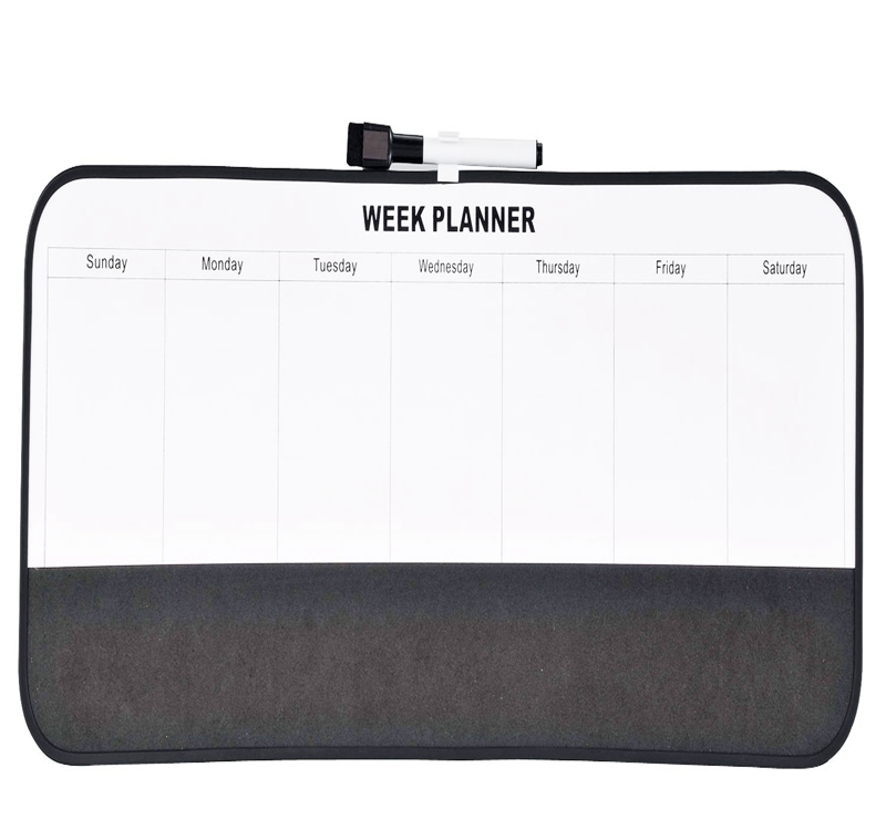 Office & school supplies wood Frame Week planner magnetic board for family use