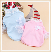 Wholesale Cute Dog Pet Product Dog Accessories Winter Lace Collar Lace Sleeve T-shirt Dog Clothes