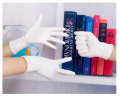 "9"" Length White disposable 100pcs/box X-Small Nitrile Examination Gloves supplier"