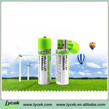 usb cell AA/AAA usb chargeable cell battery USB AA rechargeable battery