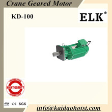 Double speed geared motor for end carriage