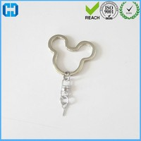 Stable Quality Factory Mickey Split Key Ring With Swivel Chain And Eye Screw