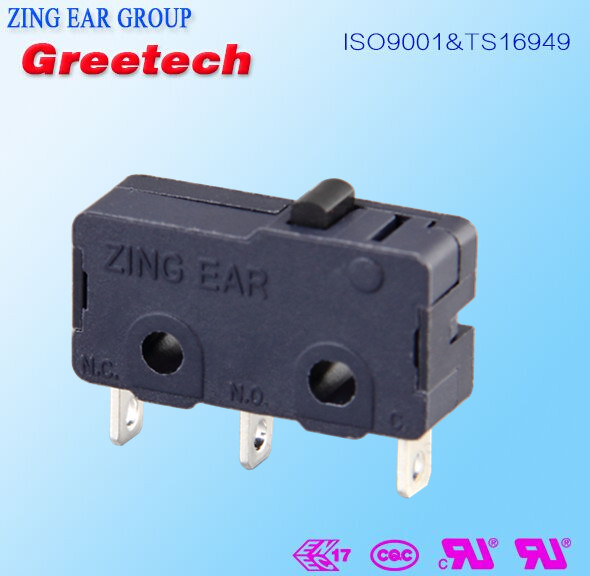 SPST normally open straight PCB terminals micro limit switch