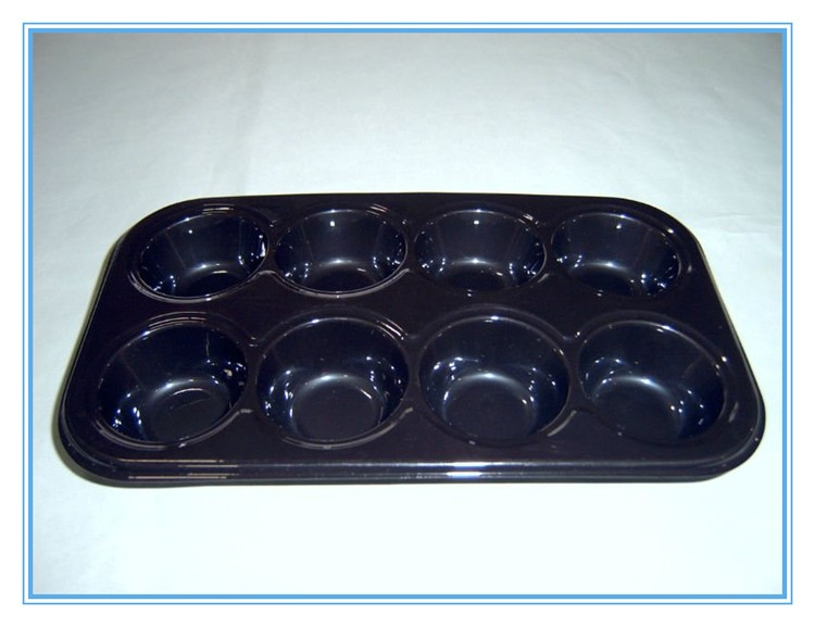 one time used CPET plastic dessert tray