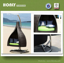 Rattan hanging bed wicker hanging bed outdoor hanging bed
