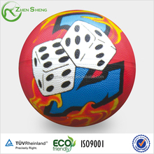 Size 5 colorful printing rubber basketball for promotion or children playing