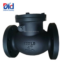 "Cheap Prices JIS 125LB 4"" Inch Black Ball Body Floating Flapper Double Flanged Non Slam Silent Toilet Check Valve"