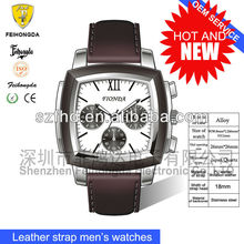 First new design Andriod watch phone from Fionda Leather Strap Luxury quartz watch