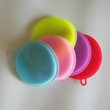 Hot sale kitchen dish brush/silicone dish washer/silicone wash brush