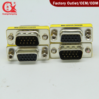 15 Pin HD SVGA VGA Converter Male to Female Connecter Adapter