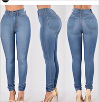 Women Sexy Classic High Waist Skinny Slimming Leggings Ladies Jeans