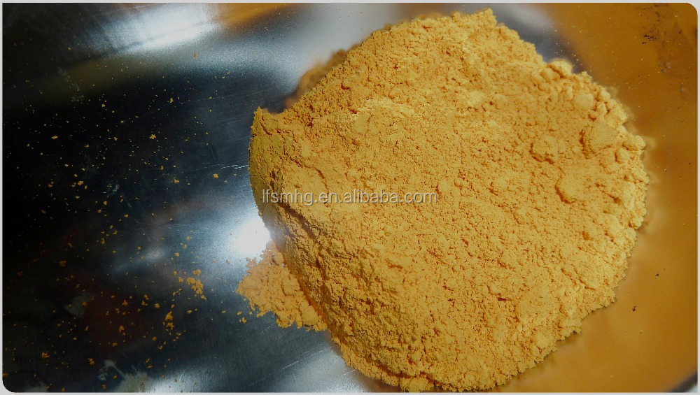High tinting strength orange Iron oxide pigment powder