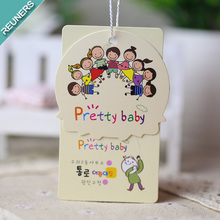 Factory wholesale paper hang tag for kid products