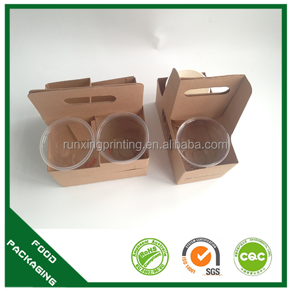 Cup holder paper bag,coffee cup tray,cup holder carrier