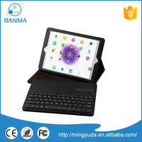 Wholesale PU leather bluetooth tablet pc case with keyboard and touchpad