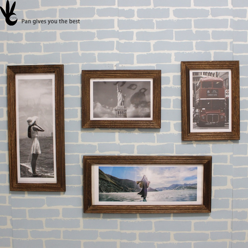 Pan interior wood partition wall hanging partition for decoration wooden wall photo frame