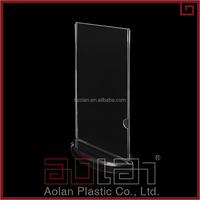 High Quality Promotional Transparent Acrylic Display with base/ Business Card/acrylic menu holder/display
