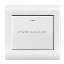 hot sale 1 / 2 / 3 / 4 / 6 / 8 gang 1 way or 2 way electric wall switch