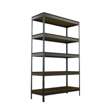 Collapsible storage slotted angle iron racks