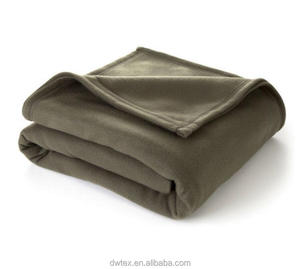 Military Green One Layer Folded Polar Fleece Throw for Home Kids Pet Outdoor