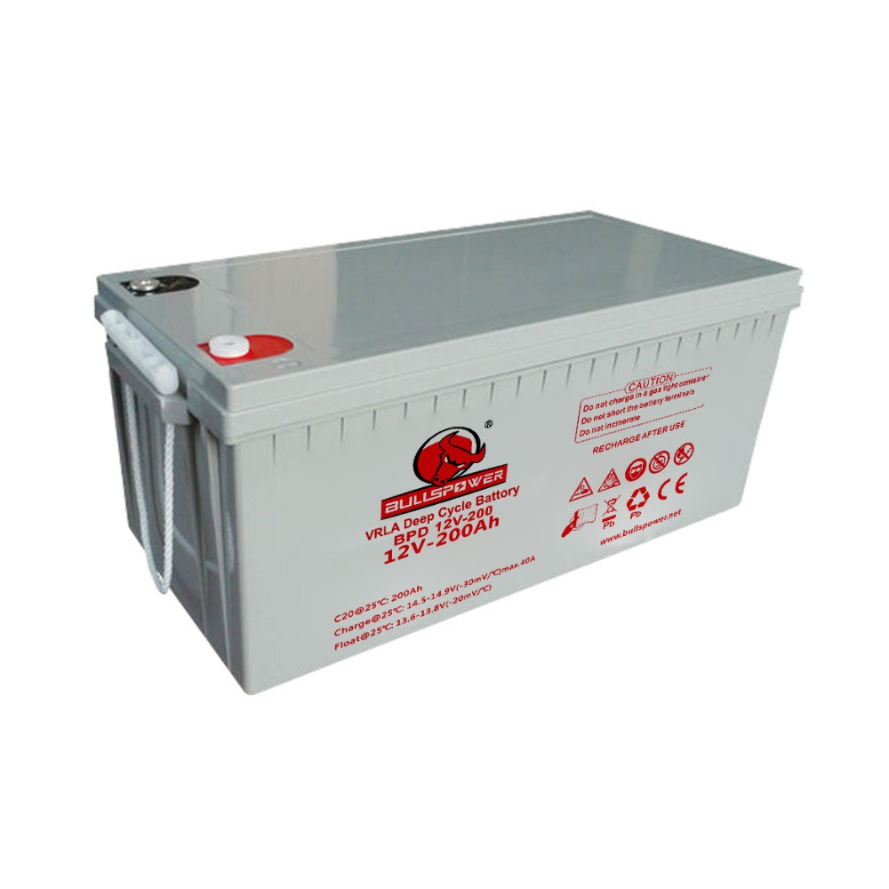 agm deep cycle battery 12v 200ah solar panel kit made in china battery