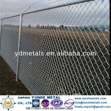 "4""100mm galvanized chain link mesh/stainless steel chain link fence Anping factory/chain link wire mesh for highway fencing"