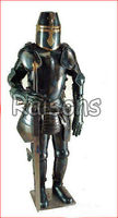 Knight Full Body Armor Suit With Sword Antique, Medieval suit of armor