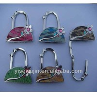 2017 latest design metal purse hanger bag shape
