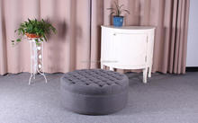 Luxury antique fabric footstool and ottoman with button
