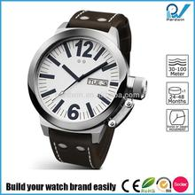 Build your watch brand easily man stainless steel top 10 wrist watch brands japan movement with calendar