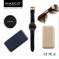 MAXCO portable 5000ma travel power bank battery plus mobile case charger external battery, mobile charger