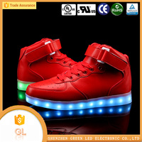 led shoes 2016 High top flashing light night running men led shoes