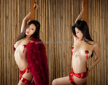 Black White Red Sexy Women Hot Sex Images Decorative Tassel Nipple Covers