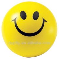PU foam stress smiley printing balls gift toys