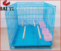 Chinese Commercial Galvanized Wire Mesh Bird Cage With Outside Feeder(wholesale,good quality,Made in China)