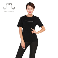 Stylish Black Custom Plain Printing T