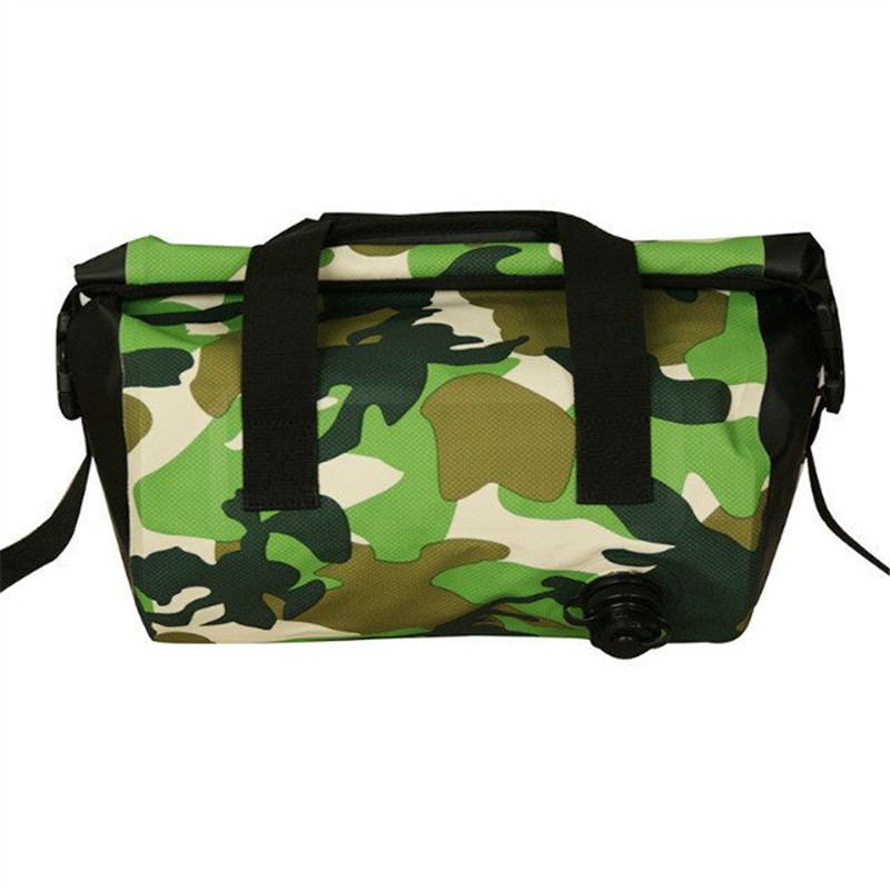 China Supplier Ningbo Small Size Camo Waterproof PVC Duffel Bag for Camera Phones Clothes with Handle