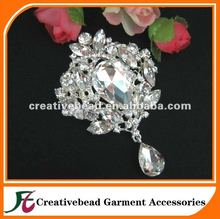 china manufacturer wholesale brooch pin rhinestone flower fashion jewel rhinestone brooch for wedding decoration