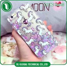 2016 China supplier PC phone case for iPhone 6 case with Unicorn liquid case