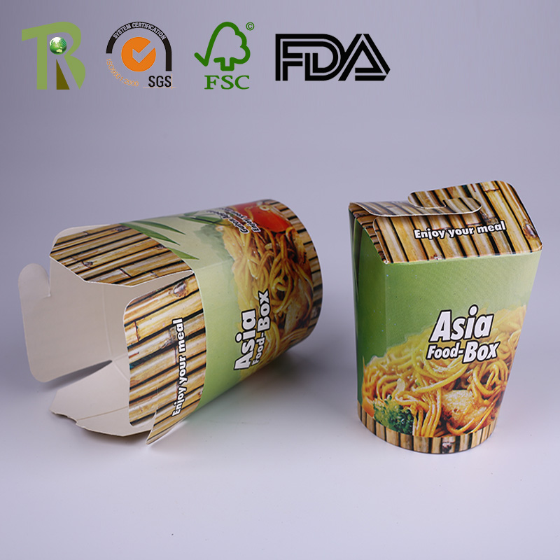 Disposable Noodle Box Food Pails Pasta Boxes