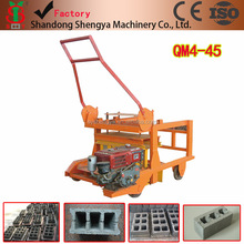 small diesel movable concrete hollow block making machine in Ethiopia and congo