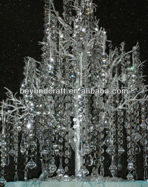 hanging crystal beads strands for party or event decortion