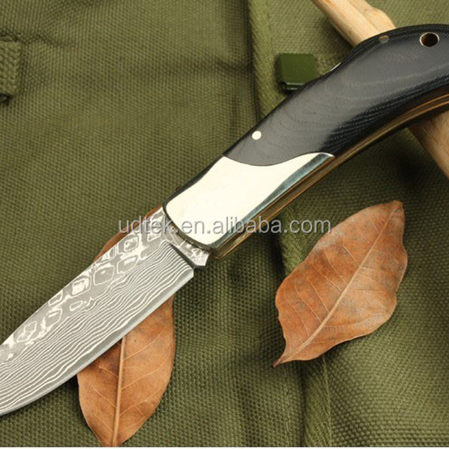 OEM micarta handle knife damascus knies UDTEK00548